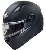 Vega Ultra Full Face Snowmobile Helmet with Heated Snow Shield (Matte Black, 4X-Large)