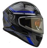 Vega Caldera 2 Modular Snowmobile Helmet (Blue Blade, X-Small)