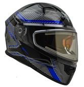 Vega Caldera 2 Modular Snowmobile Helmet (Blue Blade, Medium)