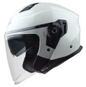 Vega Magna Touring Helmet (Pearl White, Small)