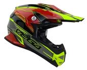 Vega Mighty X2 Youth Off-Road Helmet (Red Stinger, Medium)