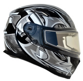 Vega Ultra 2 Snowmobile Helmet w/Heated Shield (Black Shuriken, Large)