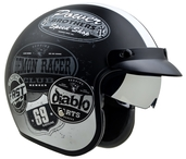 Vega X390 Open Face Helmet (Old Skooll, Small)