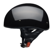 Vega Sniper Gloss Black Half Helmet X-Large 61-62 CM