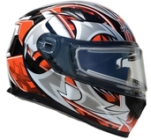 Vega Ultra 2 Snowmobile Helmet w/Heated Shield (Red Shuriken, Medium)
