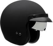 Vega X390 Open Face Helmet (Matte Black, Medium)
