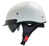 Rebel Warrior Pearl White Half Helmet XL