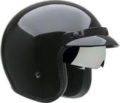 Vega X390 Open Face Helmet (Gloss Black, Medium)