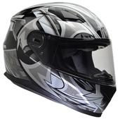 Vega Ultra II Full Face Helmet (Black Shuriken, Medium)