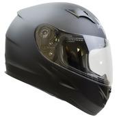 Vega V-Star Matte Black Full Face Helmet (X-Large)