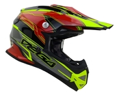 Vega Mighty X2 Youth Off-Road Helmet (Red Stinger, Large)