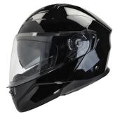 Vega Caldera 2 Modular Motorcycle Helmet (Gloss Black, Medium)