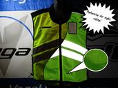 Vega Yellow Mesh Safety Vest size XLarge -3XLarge