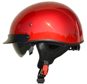 Rebel Warrior Velocity Red Half Helmet M