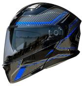 Vega Caldera 2 Modular Motorcycle Helmet (Blue Blade, Large)