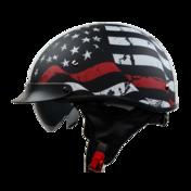 Vega Warrior Half Helmet (Back the Red, Large)