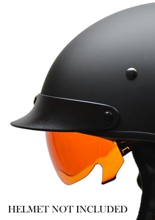 Warrior Half Helmet AMBER drop-down shield picture