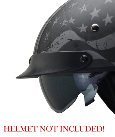 Warrior Half Helmet SMOKE drop-down shield picture