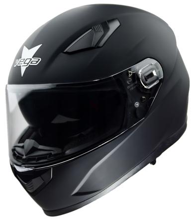 Vega Ultra Max Full Face Helmet (Matte Black, Medium) picture