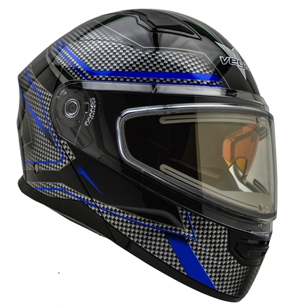 Vega Caldera 2 Modular Snowmobile Helmet (Blue Blade, X-Large) picture