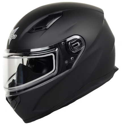 Vega Ultra II Full Face Helmet with Dual Lens Snow Shield (Matte Black, Large) picture