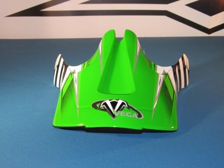 Vega Viper Off Road Helmet Replacement Visor in the Green Kraze Graphic picture