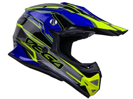 Vega Mighty X2 Youth Off-Road Helmet (Blue Stinger, Large) picture