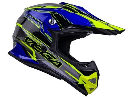 Vega Mighty X2 Youth Off-Road Helmet (Blue Stinger, Medium) picture