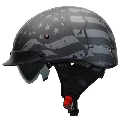 Rebel Warrior Patriotic Flag Half Helmet XS picture