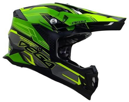 Vega MCX Adult Off-Road Helmet (Green Stinger, Small) picture