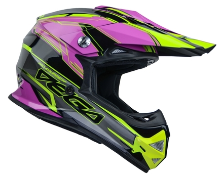Vega Mighty X2 Youth Off-Road Helmet (Pink Stinger, Large) picture