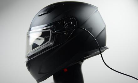 Vega Ultra Max Full Face Snowmobile Helmet with Heated Dual Lens Shield (Matte Black, Medium) picture