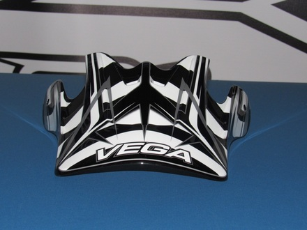 Vega Mojave off road helmet replacement visor in the Black Blade graphic picture