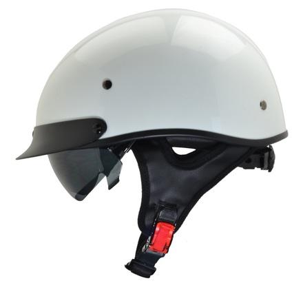 Rebel Warrior Pearl White Half Helmet XL picture