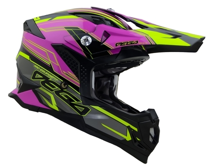 Vega MCX Adult Off-Road Helmet (Pink Stinger, Small) picture