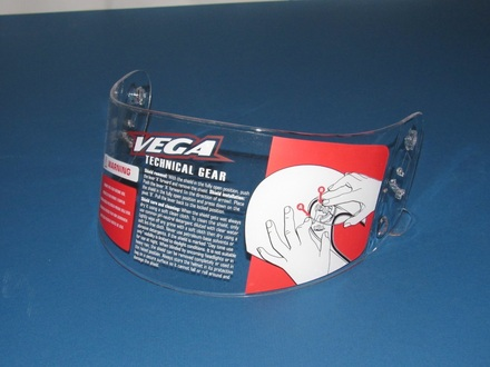 Vega Trak Karting Helmet clear shield picture