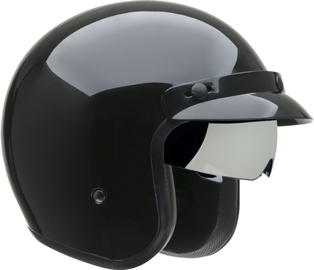 Vega X390 Open Face Helmet (Gloss Black, Medium) picture