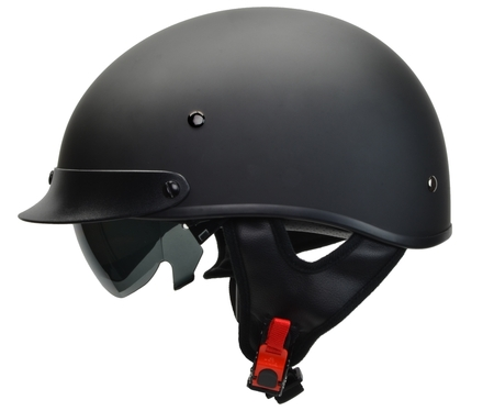 Rebel Warrior Matte Black Half Helmet XS picture