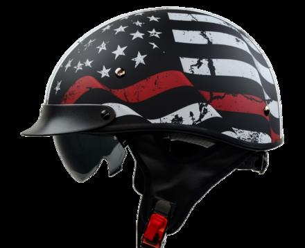 Vega Warrior Half Helmet (Back the Red, Small) picture