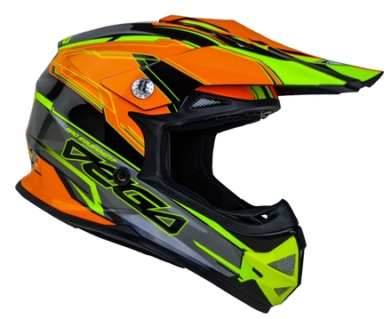 Vega Mighty X2 Youth Off-Road Helmet (Orange Stinger, Small) picture