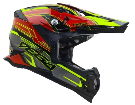 Vega MCX Adult Off-Road Helmet (Red Stinger, Small) picture