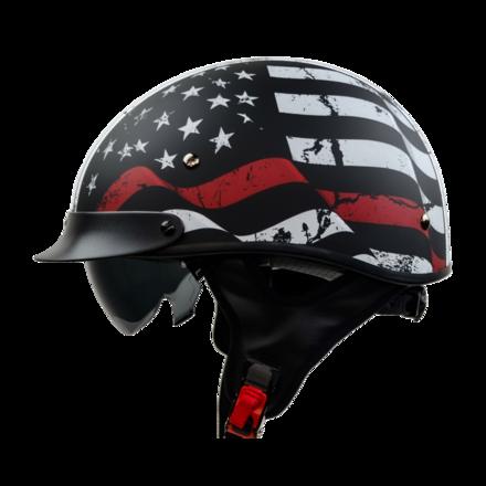 Vega Warrior Half Helmet (Back the Red, Medium) picture