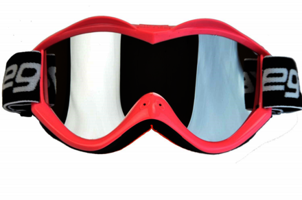 Vega Off Road Pink Goggles w/ Mirror Lens picture