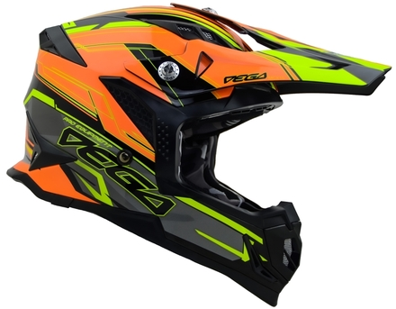 Vega MCX Adult Off-Road Helmet (Orange Stinger, Small) picture