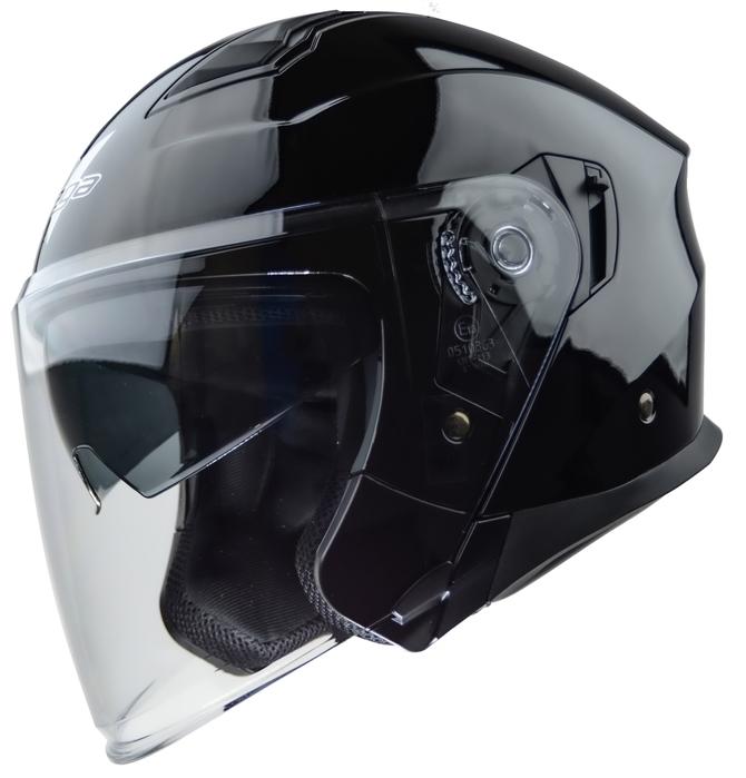 Bright Black Motorcycle Half Helmet Open Face Helmet Protection Shell Helmet for Motorcycle Scooter Bike