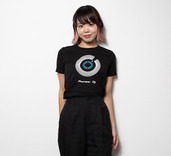 PIONEER DJ JOG WHEEL WOMENS T-SHIRT (L)