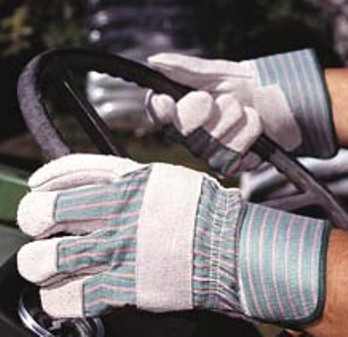 Safety Zone Gunn Cut Leather Gloves with Rubberized Safety Cuff, Extra Large, Case of 120 Pairs picture