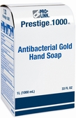 Prestige 1000 Antibacterial Gold Hand Soap Refills, Case of 8