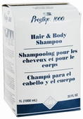 Prestige 1000 Hair & Body Shampoo Refills, Case of 8
