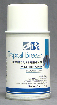 Metered Aerosol Air Freshener, Tropical Breeze, Case of 12 picture